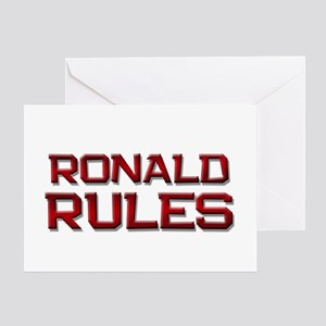 ronald rules Greeting Card