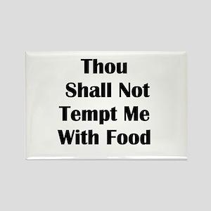 No Tempt Diet Rectangle Magnet