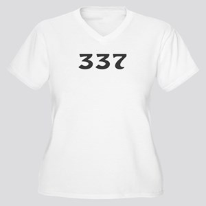 337 Area Code Women's Plus Size V-Neck T-Shirt