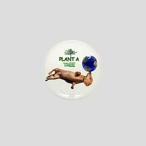Tree Dachshund Mini Button