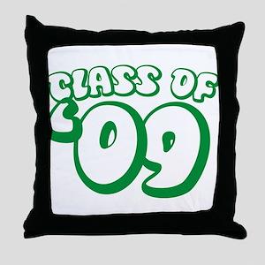 Class Of 09 (Green Bubble) Throw Pillow