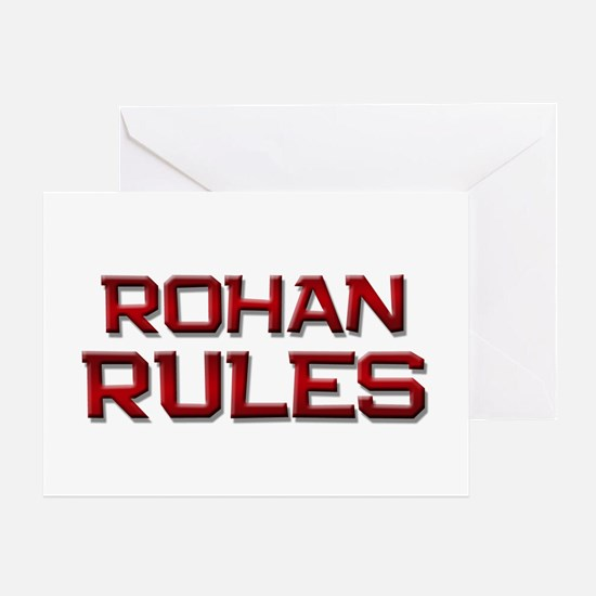 rohan rules Greeting Card