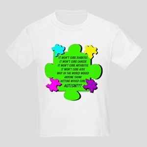 Hitting Won't Cure Autism! Kids Light T-Shirt