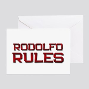 rodolfo rules Greeting Card