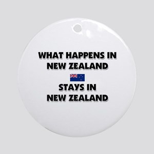 What Happens In NEW ZEALAND Stays There Ornament (