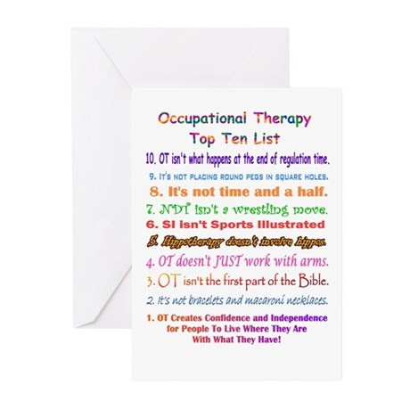 Occupational Therapy Greeting Cards (Pk of 10)