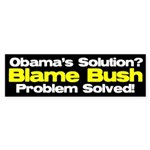 Blame Bush Bumper Sticker (10 pk)