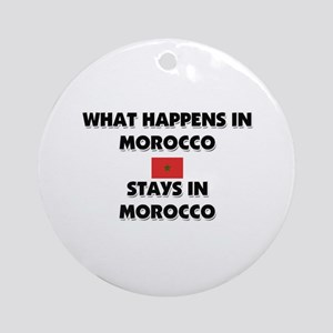 What Happens In MOROCCO Stays There Ornament (Roun