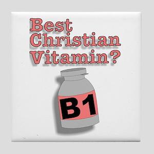 """3-D Christian Vitamins"" Tile Coaster!"