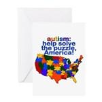 Autism USA Greeting Card