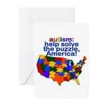 Autism USA Greeting Cards (Pk of 10)