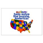 Autism USA Large Poster