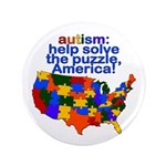 "Autism USA 3.5"" Button (100 pack)"