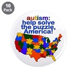 "Autism USA 3.5"" Button (10 pack)"