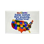 Autism USA Rectangle Magnet (100 pack)