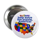 "Autism USA 2.25"" Button (100 pack)"