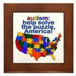 Autism USA Framed Tile
