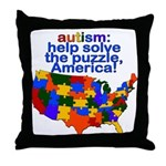 Autism USA Throw Pillow