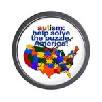 Autism USA Wall Clock