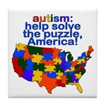 Autism USA Tile Coaster