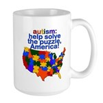 Autism USA Large Mug