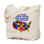 Autism USA Tote Bag