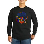 Autism USA Long Sleeve Dark T-Shirt