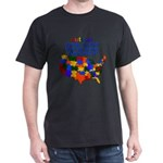 Autism USA Dark T-Shirt