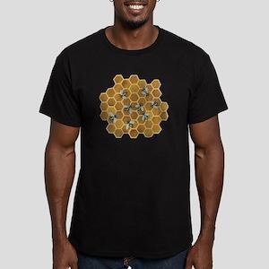 Honey Bees Men's Fitted T-Shirt (dark)