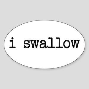 i swallow Oval Sticker