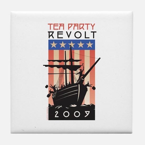 Tea Party Revolt 2009 Tile Coaster
