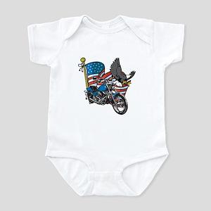 Eagle Biker Infant Bodysuit