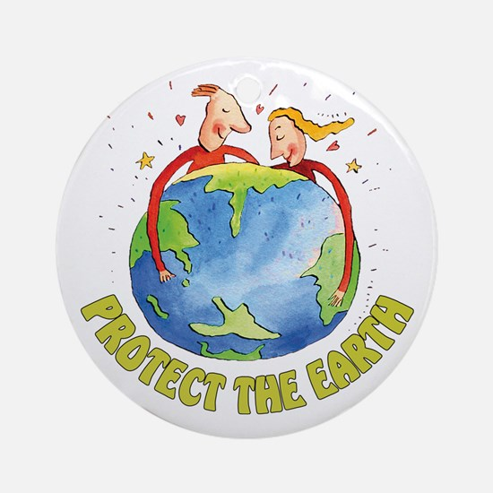 Protect the Earth Ornament (Round)