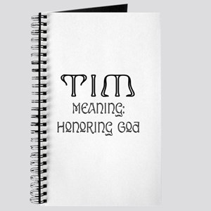 Tim Name Meaning Journal