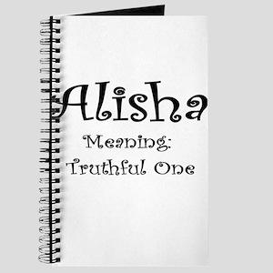 Alisha Name Meaning Journal