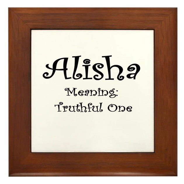 Alisha Name Meaning Framed Tile by PicsNStuff