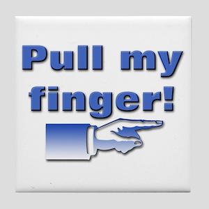 Pull my finger! Tile Coaster
