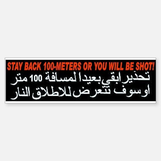 Get Back or Get Shot! Bumper Car Car Sticker