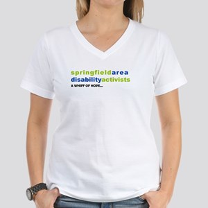 Disability Activists Women's V-Neck T-Shirt