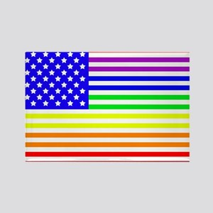 Gay American Flag Rectangle Magnet