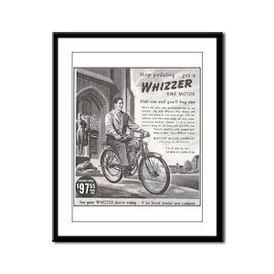 """""""1946 Whizzer Ad"""" Framed Panel Print"""