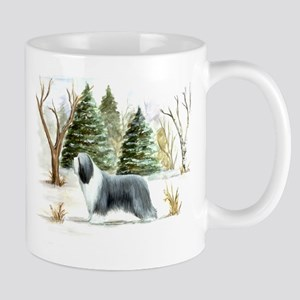 BeardieSnowScene Mugs