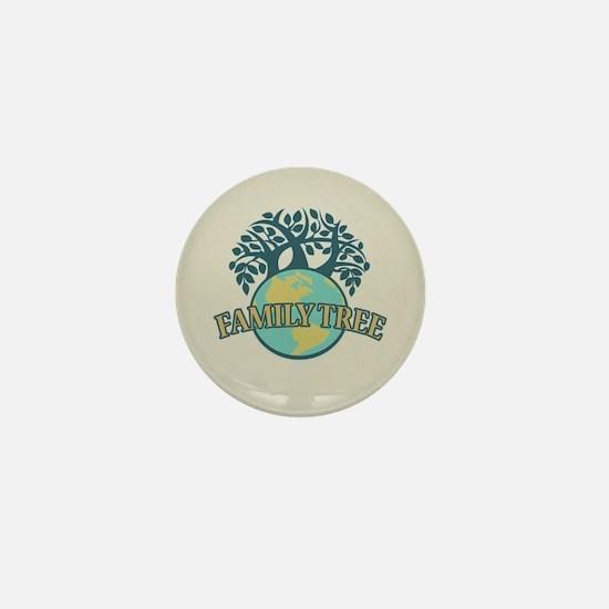 Earth Family Tree Mini Button