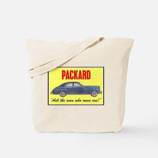 """""""1946 Packard Slogan"""" Tote Bag"""