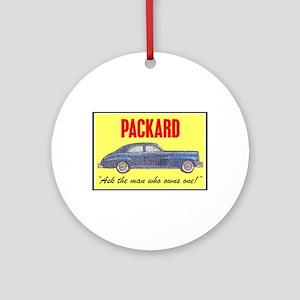 """""""1946 Packard Slogan"""" Ornament (Round)"""