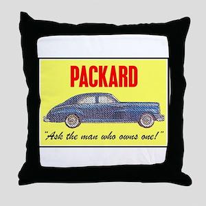 """""""1946 Packard Slogan"""" Throw Pillow"""