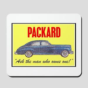 """1946 Packard Slogan"" Mousepad"