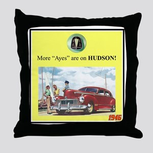 """1946 Pontiac Ad"" Throw Pillow"