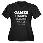 Amusement Park 'Games' Gamer Women's Plus Size V-N