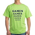 Amusement Park 'Games' Gamer Green T-Shirt